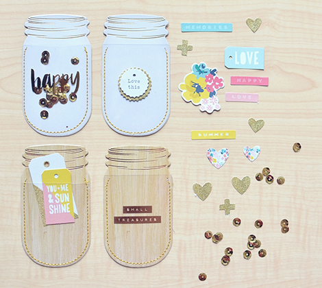 Crate Paper Poolside Mason Jar Pockets - Scrap Of Your Life