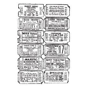 Tim Holtz Components Unmounted Rubber Stamps - Ticket