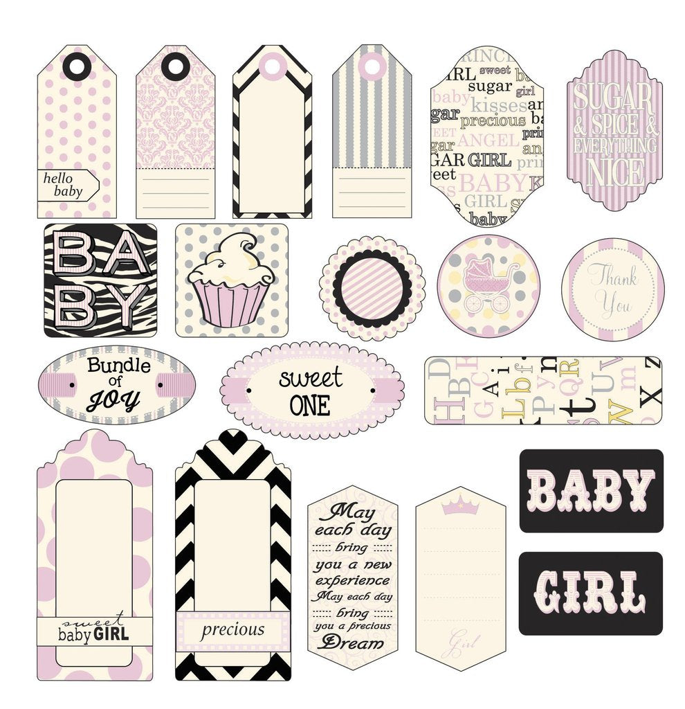 Canvas Corp Baby Girl Tags