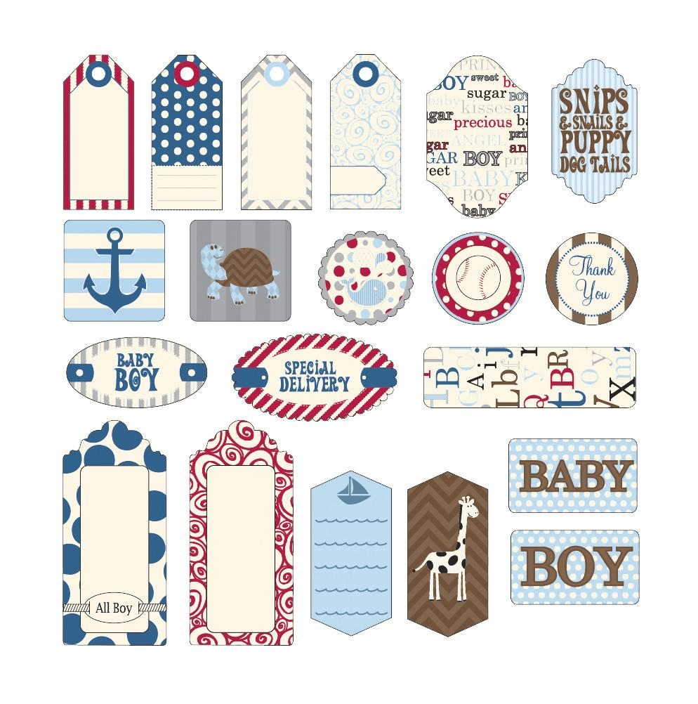 Canvas Corp Baby Boy Tags