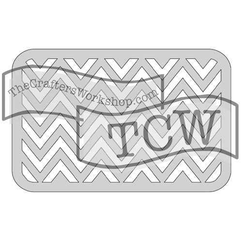 The Crafter's Workshop Metal Die Horizontal Chevron - Scrap Of Your Life