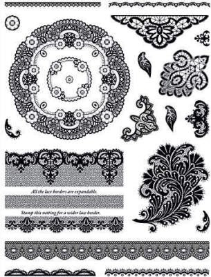 HOTP Acrylic Stamp Set Lace and Doilies - Scrap Of Your Life