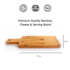 Organic Bamboo Cutting Board for Serving & Food Prep