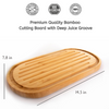 Organic Bamboo Cutting Board | Deep Juice Groove
