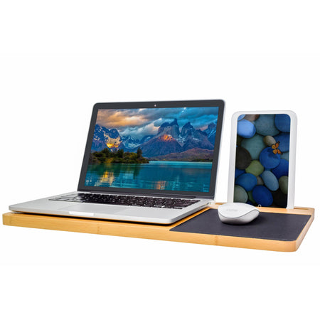 Bamboo Double Sided Laptop Lap Desk