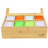Natural Bamboo Tea Box Storage Organizer