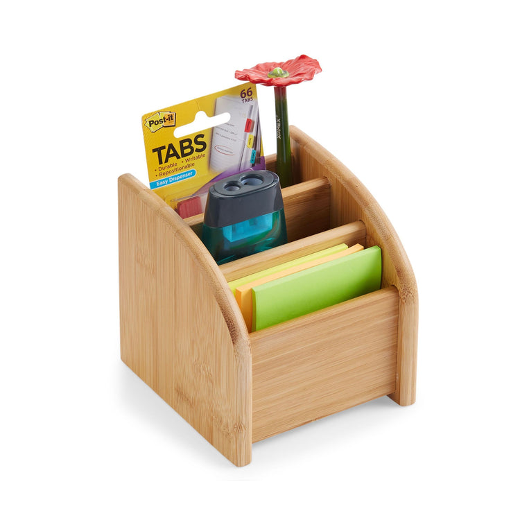 Mini Bamboo Desk Organizer