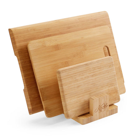 3 Slot Bamboo Cutting Board Organizer