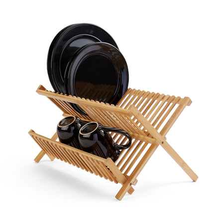 Foldable Bamboo Dish Drying Rack