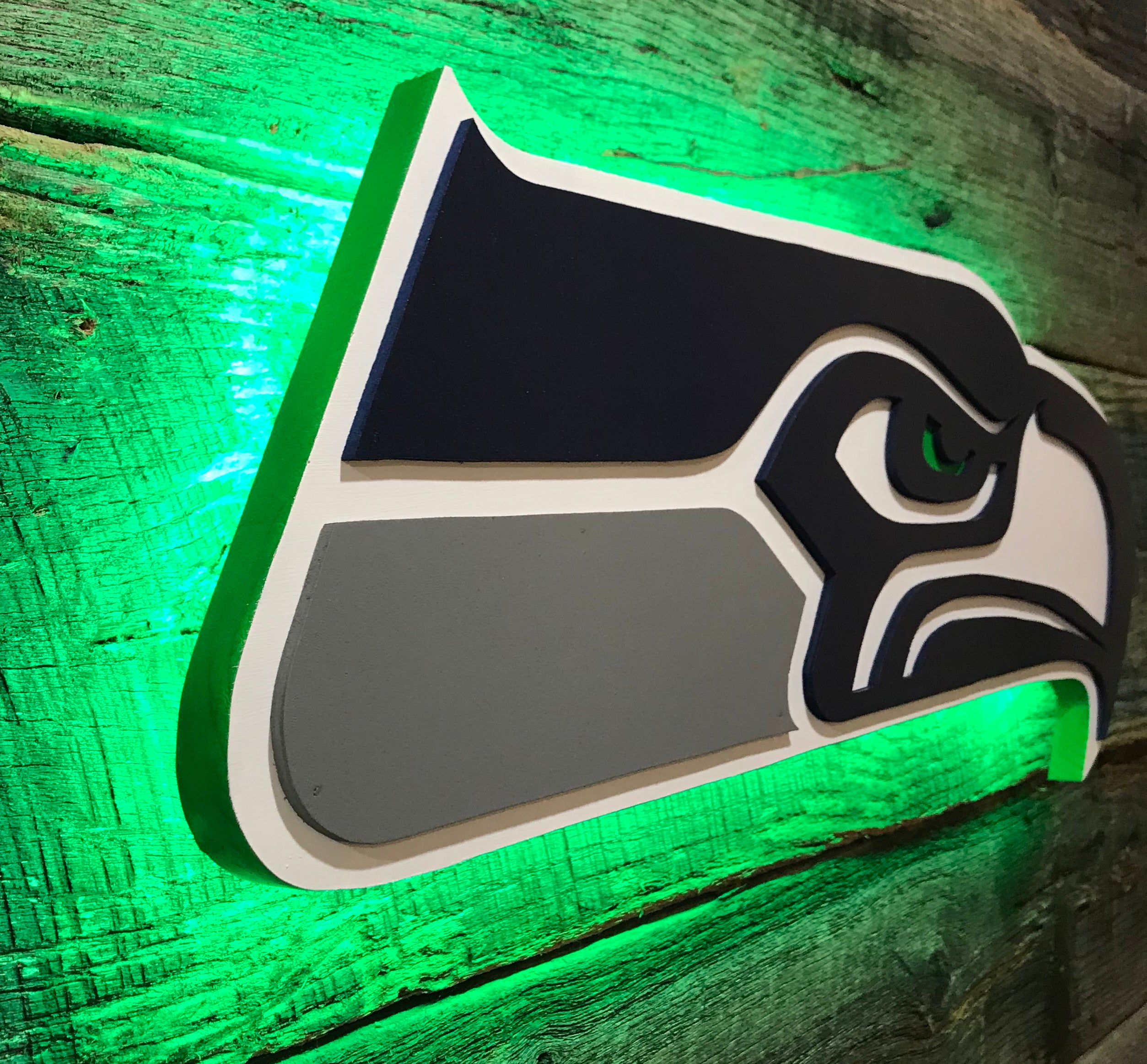 Seattle Seahawks Wooden Wall Art