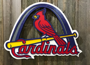 St. Louis Cardinals with Arch
