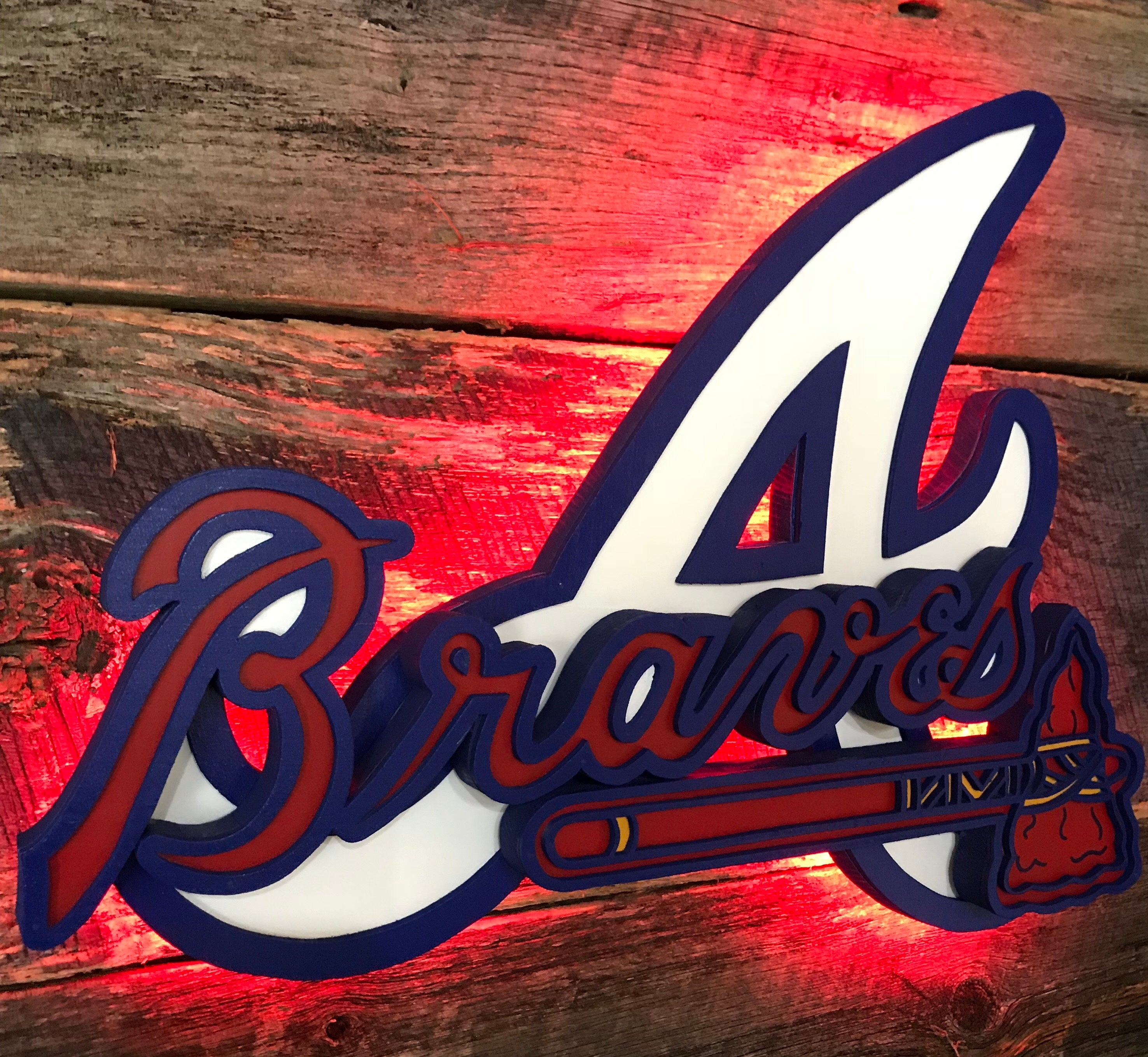 Atlanta Braves wooden wall décor