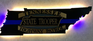 Tennessee Highway Patrol logo with Thin Blue Line
