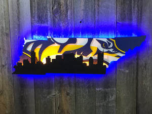 Tennessee with Nashville Skyline  (Smashville)