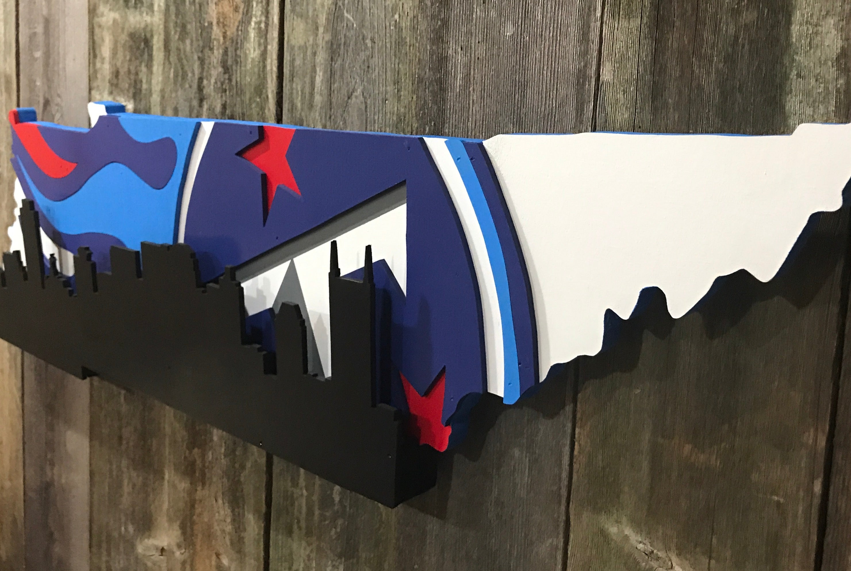 Tennessee Titans with Nashville skyline