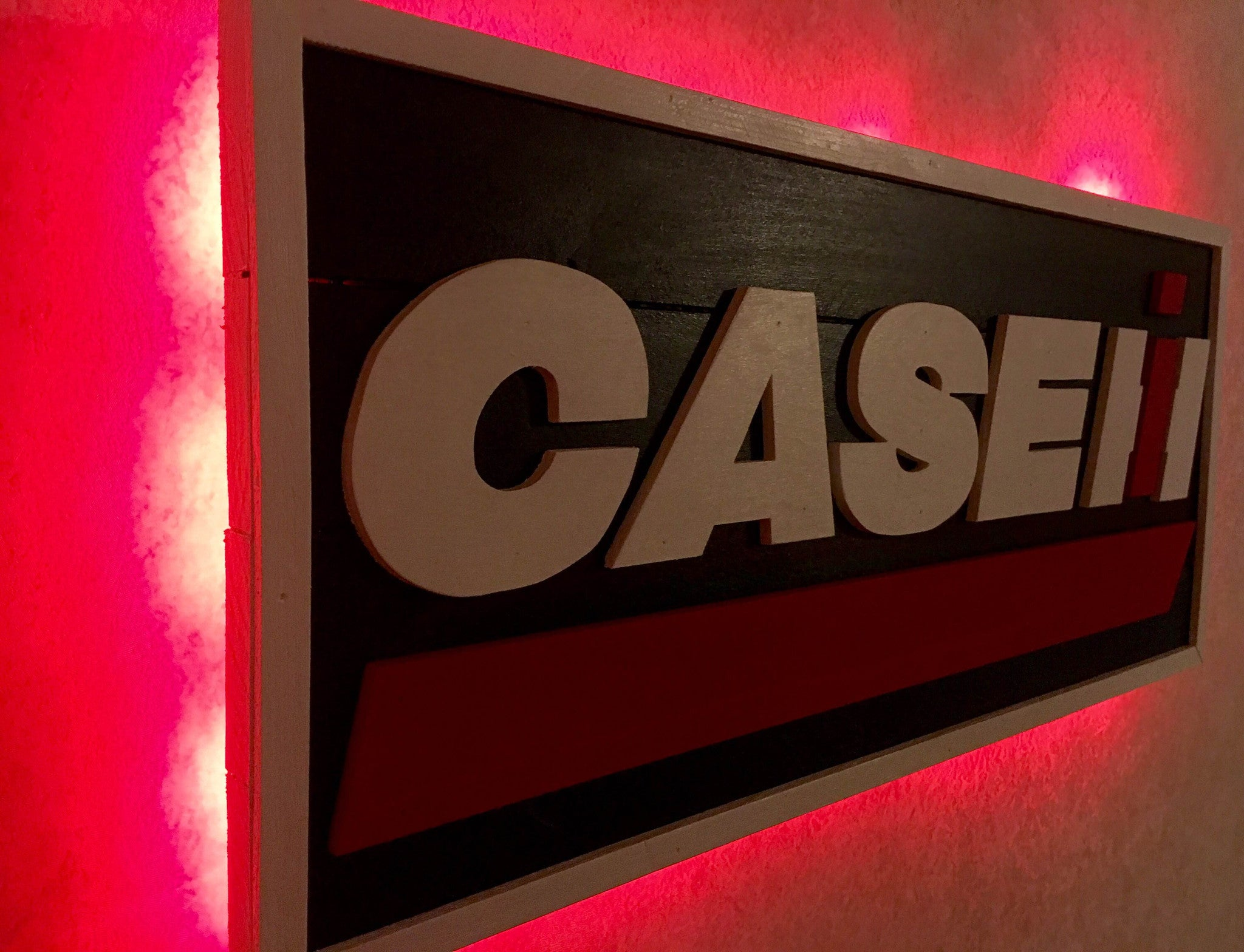 Case IH wooden sign