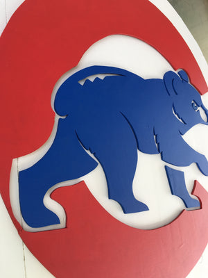 Chicago Cubs cutout with Cub