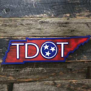 Tennessee outline with TDOT logo