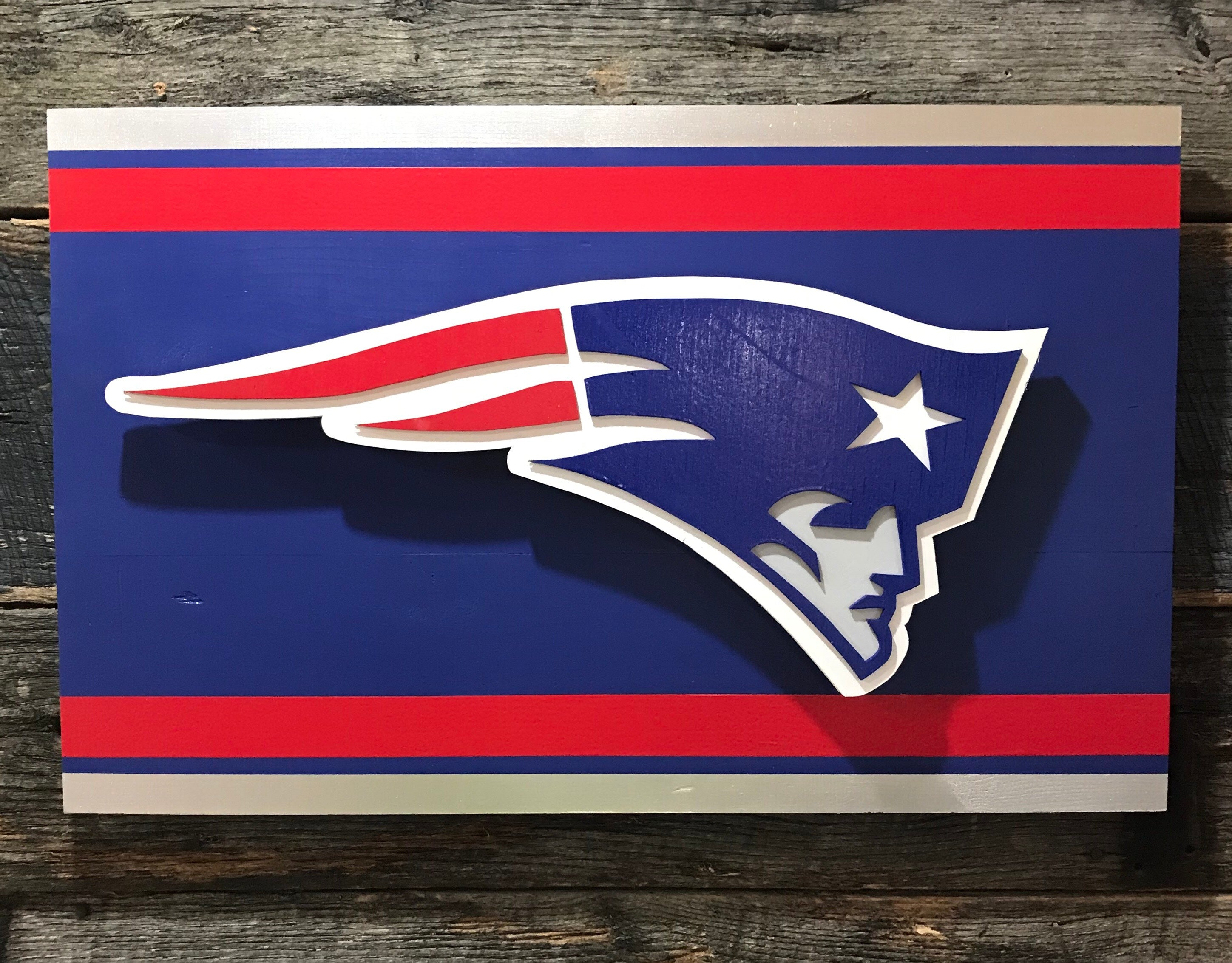 New England Patriots Wooden Wall Décor
