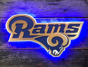 L.A. Rams Wooden Wall Decor