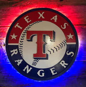 Texas Rangers Wooden Decor
