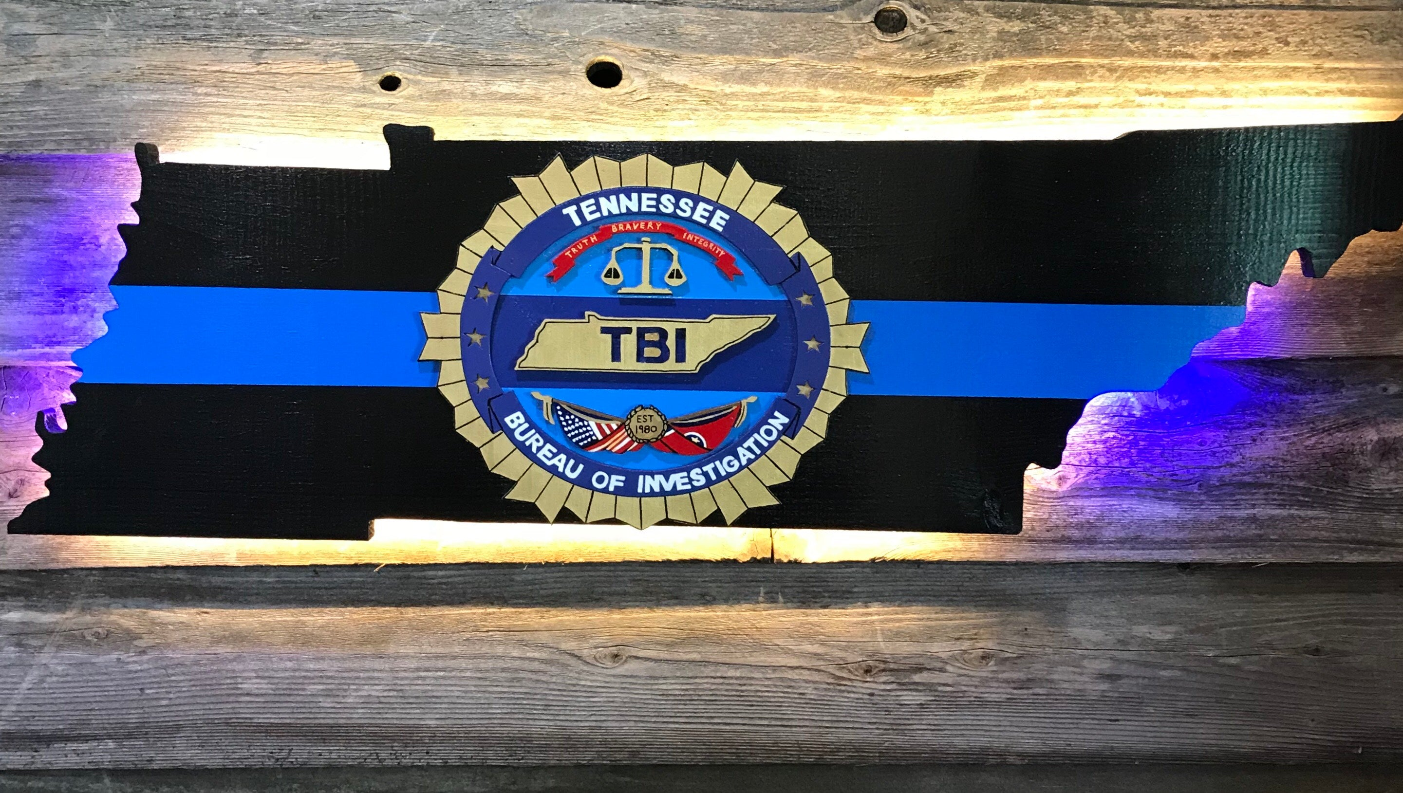 "Tennessee Bureau of Investigation with ""Thin Blue Line"""