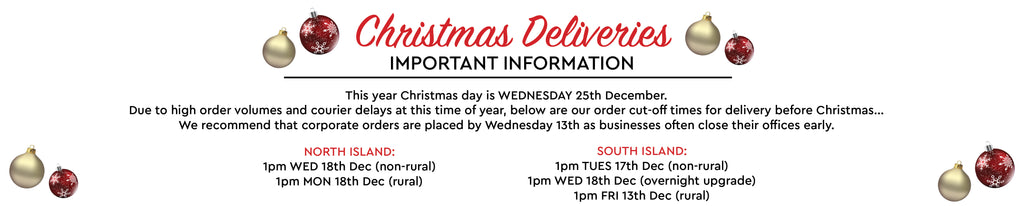 Xmas 19 Delivery Order Cut Off Dates - NZ