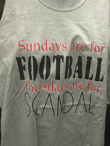 Sunday Football, Thursdays Scandal