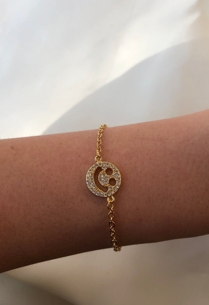 Sparkly Smiley Face Bracelet