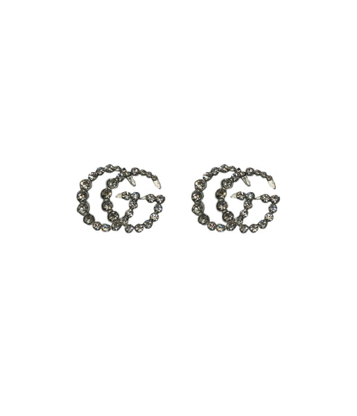 Silver Sparkly GG Earrings