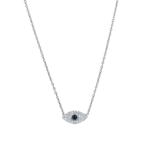 Silver Eye Necklace