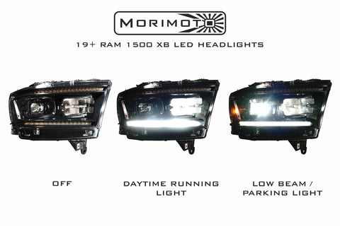 2019+ All-New Dodge Ram 1500 Morimoto XB LED Headlights