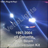 1997-2004 c5 Corvette 55w High Beam HID Conversion Kit