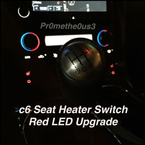2005-2013 C6 Corvette Seat Heater Switch LED's