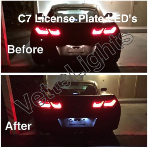 2014+ C7 Corvette License Plate LED's (Stingray, GS, & Z06)
