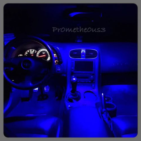 2005-2013 C6 Corvette Interior Blue LED Plug-N-Play Upgrade Kit (Free Shipping)