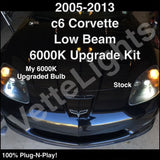 2005-2013 C6 Corvette Low Beam 6000K HID Bulb Upgrade