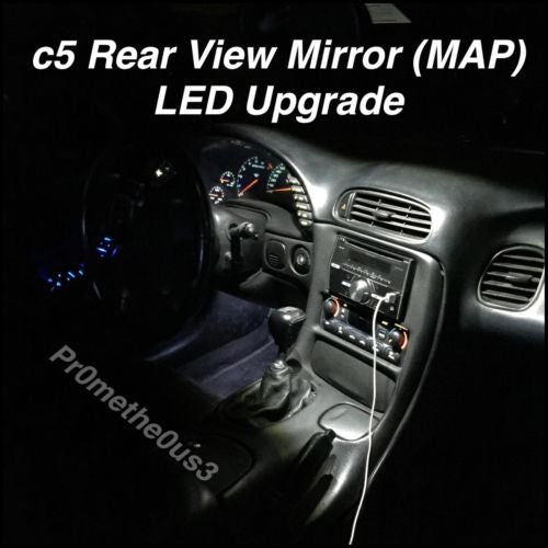 1995 Chevrolet Corvette Interior: 1997-2004 C5 Corvette Interior Rear View Mirror (MAP) LED