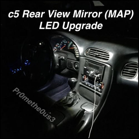 1997-2004 c5 Corvette Interior Rear View Mirror (MAP) LED Lights