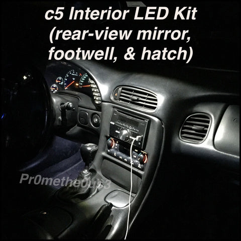 1997-2004 c5 Corvette Interior Plug-N-Play LED Kit