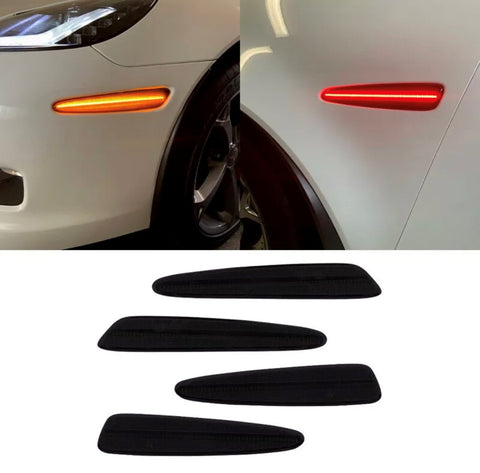 2005-2013 C6 Corvette Smoked Lens Full-Length Laser LED Side Markers