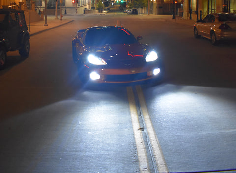 2005-2013 C6 Corvette Brightest Available LED Fog Lights (Brighter Than HID)