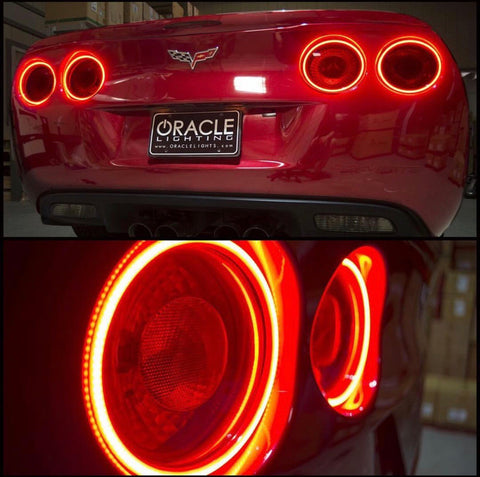 2005-2013 C6 Corvette Oracle Surface-Mount Tail Light Halo Kit (Set of 4)