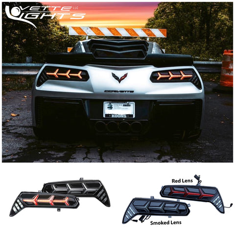 2014-2019 C7 Corvette Morimoto Aventador-Style LED Tail Lights