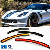 2014-2019 C7 Corvette Laser LED Side Marker Assemblies [Smoked Lens]