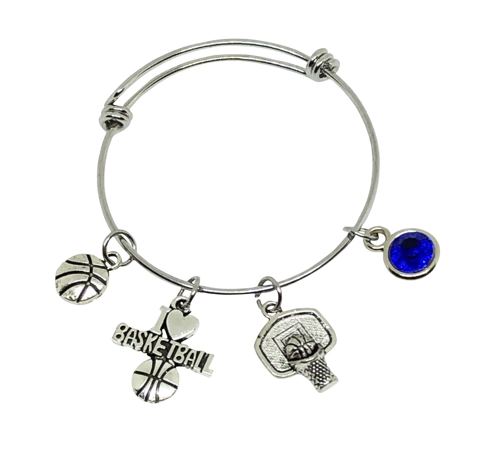 Basketball Charm Bracelet - I Love Basketball