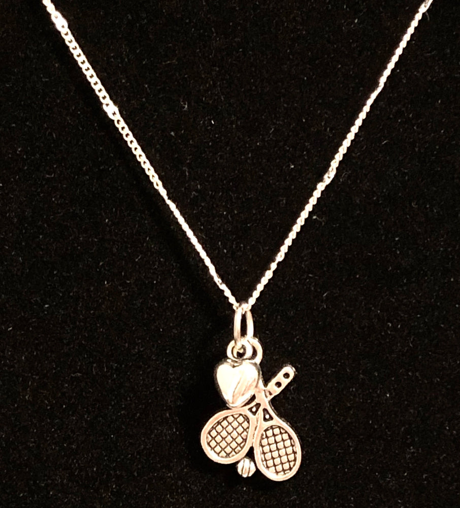 Tennis Charm Necklace - Cheer and Dance On Demand