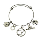 Personalized Gymnastics Charm Bracelet - I Love Gymnastics - Cheerleading On Demand by America's Leaders