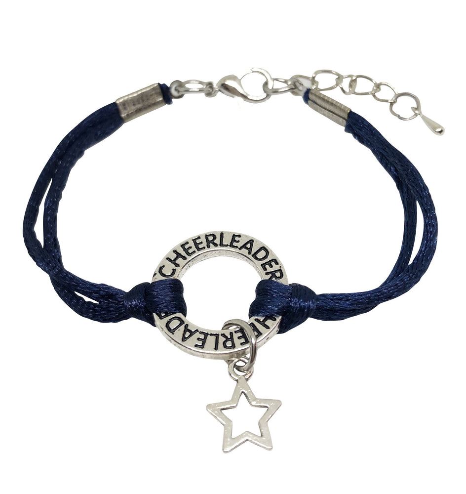 Star Cheerleading Bracelet - 6 COLORS Navy Blue