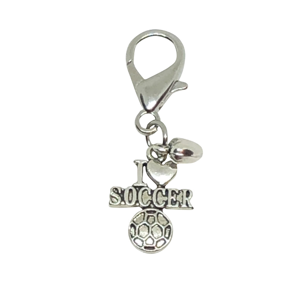 Soccer Zipper Pull - Soccer Accessories - Cheer and Dance On Demand